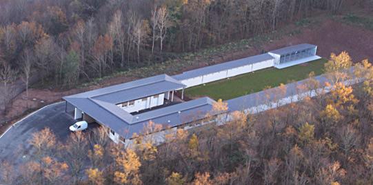Vue aérienne du refuge SPA de Brive en Corrèze